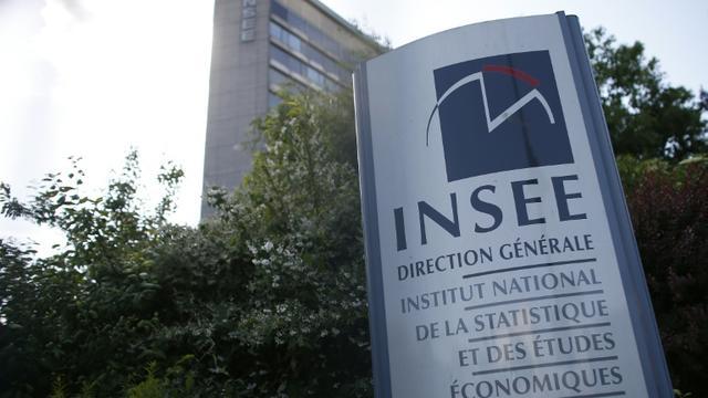 Logo de l'Inse à l'entrée du siège, le 22 mai 2015, à Paris [Thomas Samson / AFP/Archives]