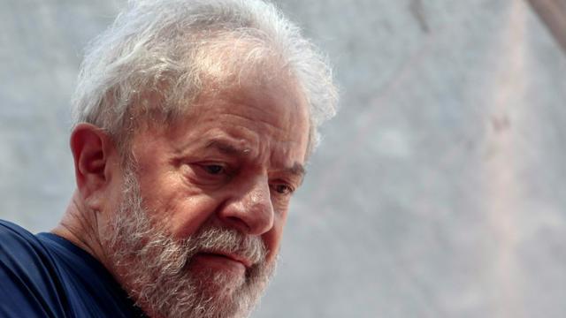 L'ex-président brésilien  (2003-2011) Luiz Inacio Lula da Silva à Sao Bernardo do Campo le 7 avril 2018.  [Miguel SCHINCARIOL / AFP]