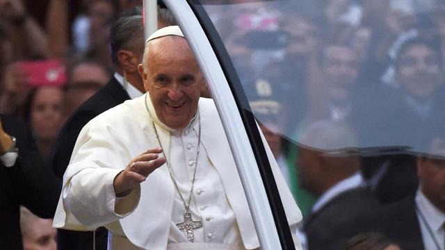 Le pape François le 24 septembre 2015 à New York [Jewel Samad / AFP]