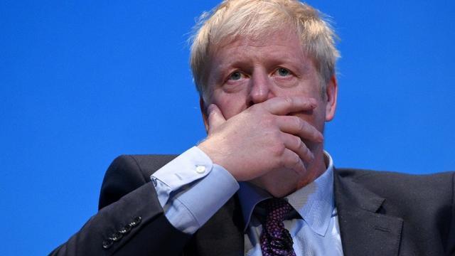 Le député britannique Boris Johnson, candidat au poste de Premier ministre, lors d'un meeting à Birmingham le 22 juin 2019 [Oli SCARFF                           / AFP]