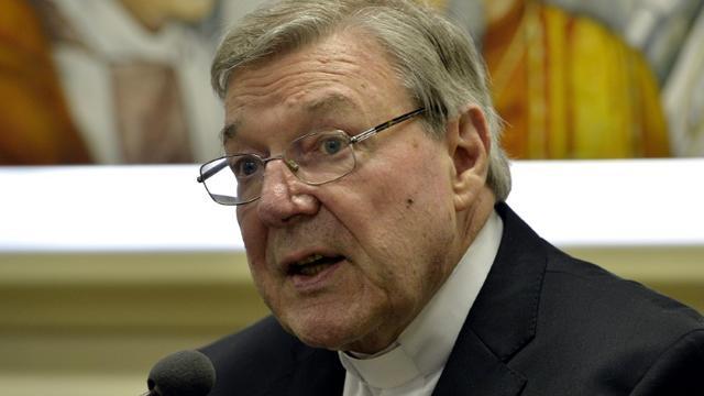 Le cardinal australien George Pell, inculpé pour de multiples sévices sexuels sur enfants en Australie, le 31 mars 2015 [Andreas SOLARO / AFP/Archives]