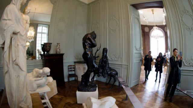 Des sculptures d'Auguste Rodin (1840 - 1917) à l'Hôtel Biron à Paris, le 6 novembre 2015 [JOEL SAGET / AFP]