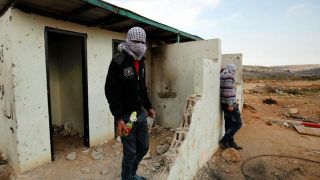 Manifestants palestiniens le 12 décembre 2015 à al-Bireh près de Ramallah [ABBAS MOMANI / AFP/Archives]