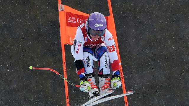 La Française Tessa Worley lors d'un entraînement pour la descente de Lake Louise au Canada, le 28 novembre 2018 [Mark RALSTON / AFP/Archives]