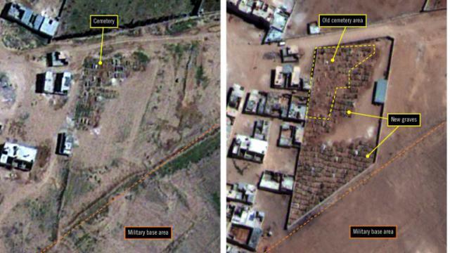 Photo satellite fournie par Amnesty International, le 7 février 2017, montre la prison de Saydnaya, à 30 km au nord de Damas, en Syrie [ / Amnesty International/AFP]