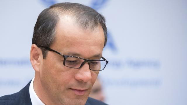 Cornel Feruta, le directeur général par intérim de l'AIEA le 1er août 2019 à Vienne, en Autriche [ALEX HALADA / AFP/Archives]