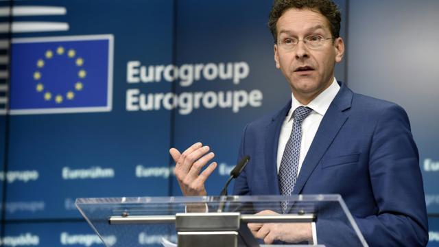 Jeroen Dijsselbloem président de l'Eurogroupe, lors d'une réunion européenne, le 20 février 2015 à Bruxelles [JOHN THYS / AFP/Archives]