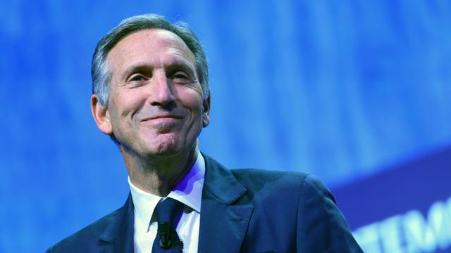 le patron de Starbucks, Howard Schultz, à Milan le 7 mai 2018 [MIGUEL MEDINA / AFP/Archives]