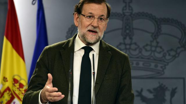 Le Premier ministre espagnol Mariano Rajoy, le 30 octobre 2015, à Madrid [JAVIER SORIANO / AFP]