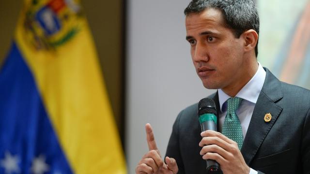 Juan Guaido le 3 septembre 2019 à Caracas. [Matias Delacroix / AFP/Archives]
