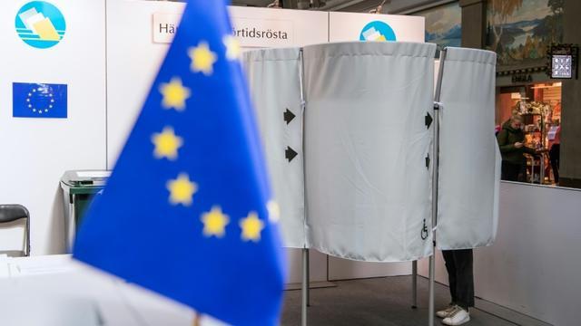 Vote anticipé pour les élections européennes à Stockholm, le 15 mai 2019 [Jonathan NACKSTRAND / AFP]