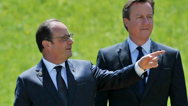 Le président François Hollande et le Premier ministre britannique David Cameron lors du G7 le 7 juin 2015 à Garmisch-Partenkirchen [Mandel Ngan / AFP/Archives]