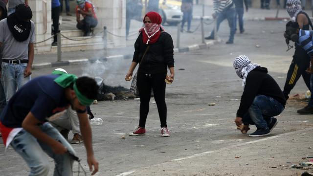 Heurts le 10 octobre 2015 à Beil Hel près de Ramallah  [ABBAS MOMANI / AFP]