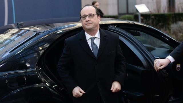 Le président français François Hollande, le 19 février 2016 à Bruxelles [STEPHANE DE SAKUTIN / AFP]