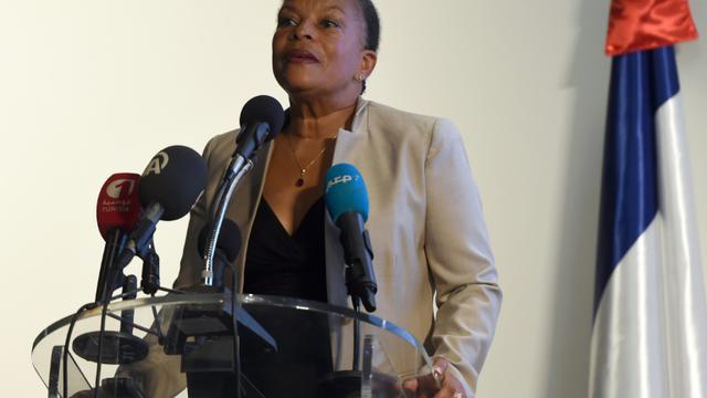 Christiane Taubira à Tunis le 18 septembre 2015 [Fethi Belaid / AFP]