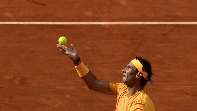 L'Espagnol Rafael Nadal éliminé par Dominic Thiem en quarts de finale du Masters 1000 de Madrid le 11 mai 2018 [OSCAR DEL POZO / AFP]