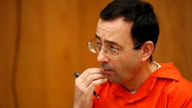 Le Dr Larry Nassar lors de son procès à Charlotte dans le Michigan, le 31 janvier 2018 [JEFF KOWALSKY / AFP/Archives]