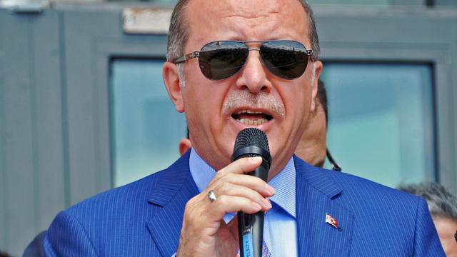 Le président turc Recep Tayyip Erdogan à Mogadiscio en Somalie, le 3 juin 2016 [MOHAMED ABDIWAHAB / AFP]
