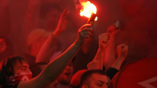 Des supporteurs du Spartak Moscou, lors d'un match de Ligue des champions contre l'Inter, le 18 octobre 2006 à Milan [Paco Serinelli / AFP/Archives]
