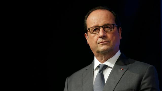 Le président Francois Hollande à Orsay, le 17 septembre 2015 [JACKY NAEGELEN / POOL/AFP/Archives]