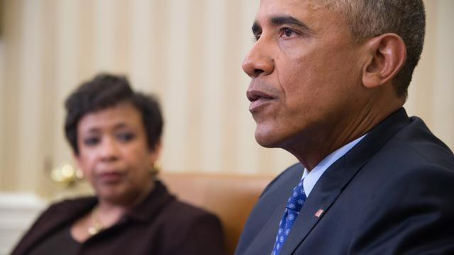 Barack Obama à la Maison Blanche, le 4 janvier 2015 [JIM WATSON / AFP]