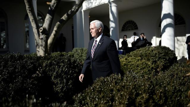 Le vice-président américain Mike Pence, le 19 janvier 2018 à la Maison Blanche, à Washington [Brendan SMIALOWSKI / AFP]