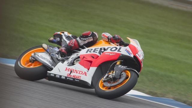 L'Espagnol Marc Marquez (Honda) vainqueur du Grand Prix d'Indianapolie en MotoGP, le 10 août 2014 [ / Getty/AFP]