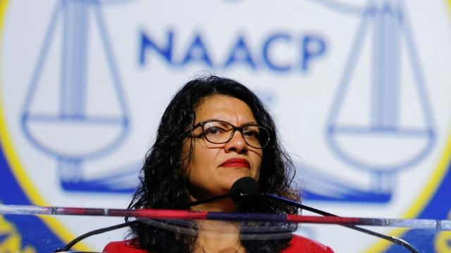 Une photo prise le 22 juillet 2019 montre l'élue américaine Rashida Tlaib [BILL PUGLIANO / GETTY IMAGES NORTH AMERICA/AFP/Archives]