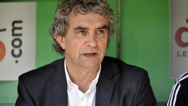Le coordinateur sportif de Saint-Etienne Dominique Rocheteau lors d'un match de L1 contre Nice, le 6 avril 2014 à Saint-Etienne [Philippe Merle / AFP]