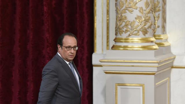 Le président François Hollande le 3 septembre 2015 à l'Elysée à Paris [ALAIN JOCARD / AFP/Archives]