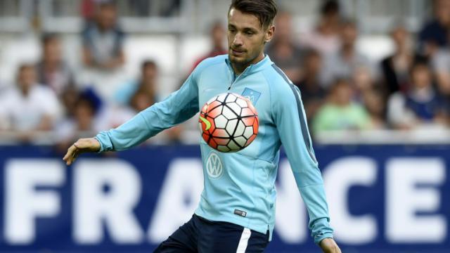 Mathieu Debuchy, sous le maillot de l'équipe de France, le 5 septembre 2015, à Bordeaux [FRANCK FIFE / AFP/Archives]