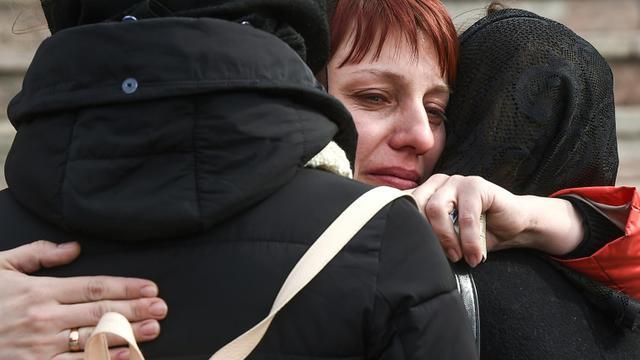 Cérémonie funèbre à Kemerovo, en Sibérie, pour les victimes de l'incendie meurtrier dans un centre commercial, le 28 mars 2018 [Dmitry Serebryakov / AFP]