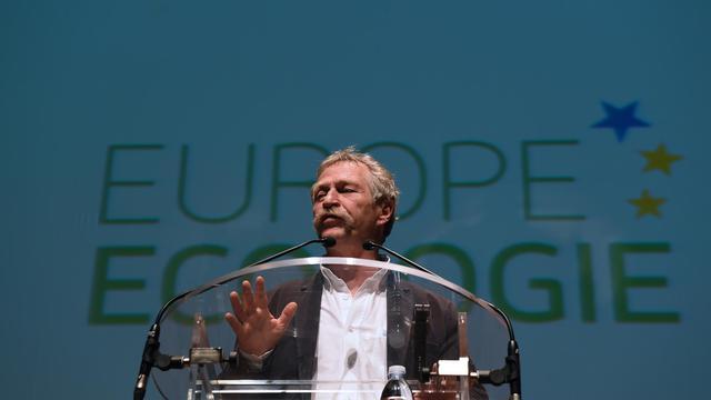 José Bové, tête de liste Europe Écologie Les Verts dans le Sud-Ouest, lors d'un meeting à Ramonville Saint-Agne, près de Toulouse, le 8 avril 2014 [Eric Cabanis / AFP/Archives]