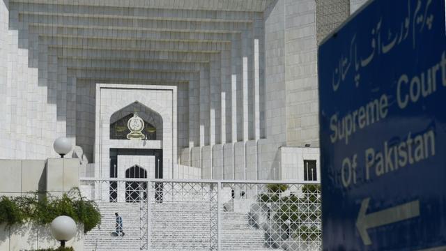 La façade de la Cour suprême à Islamabad, en septembre 2017 [FAROOQ NAEEM / AFP/Archives]