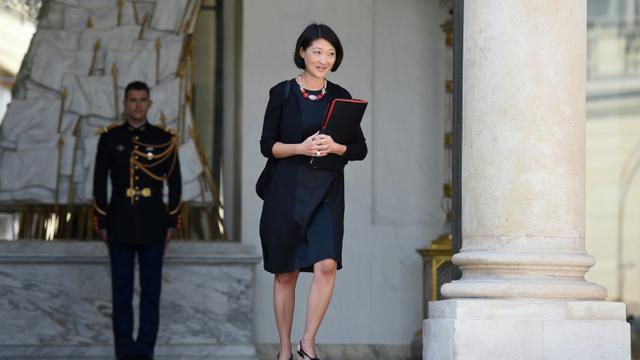 La ministre de la Culture française Fleur Pellerin sur le perron de l'Elysée à Paris, le 19 août 2015 [STEPHANE DE SAKUTIN / AFP/Archives]