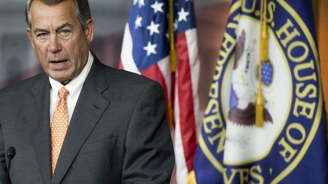 Le président républicain de la Chambre des Représentants John Boehner tient une conférence de presse, le 10 septembre 2015  [SAUL LOEB / AFP]