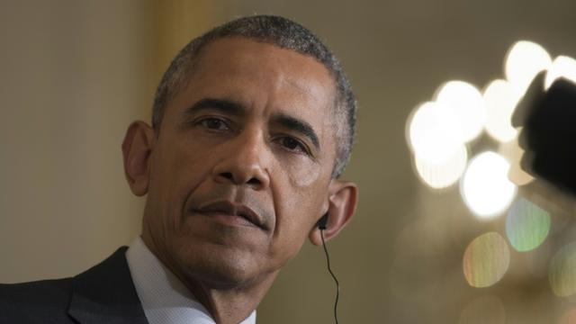 Le président américain Barack Obama à la Maison Blanche, le 16 octobre 2015, à Washington [BRENDAN SMIALOWSKI / AFP/Archives]