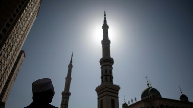 Les minarets de la mosquée de Laohuasi, le 2 mars 2018 à Linxia, dans le nord-ouest de la Chine [Johannes EISELE / AFP]