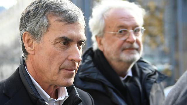 L'ancien ministre du Budget Jérôme Cahuzac, à son arrivée au tribunal à Paris, le 12 février 2018 [Eric FEFERBERG / AFP/Archives]