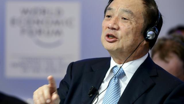 Le fondateur de Huawei Ren Zhengfei au Forum économique mondial de Davos (Suisse) le 22 janvier 2015  [FABRICE COFFRINI / AFP/Archives]
