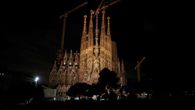 Vue sur la Sagrada Familia à Barcelone, en Espagne, le 12 septembre 2017 [PAU BARRENA / AFP]