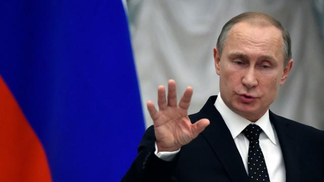 Le président russe Vladimir Poutine, le 26 novembre 2015 à Moscou [YURI KADOBNOV / POOL/AFP]