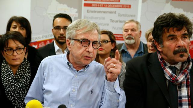Le candidat du Grand Est Jean-Pierre Masseret lors d'une conférence de presse le 8 décembre 2015 à Charlevilles-Mézières [Fred MARVAUX / AFP]
