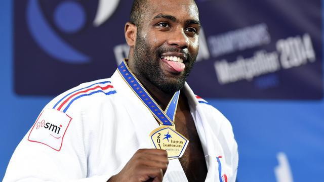 Le Français Teddy Riner lors des championnats d'Europe de judo le 26 avril 2014 à Montpellier [Pascal Guyot / AFP/Archives]