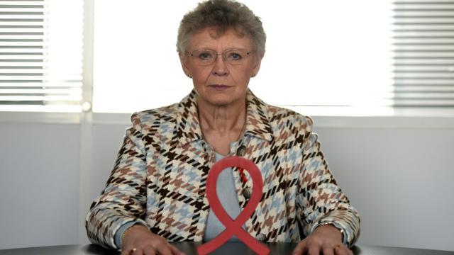 La nouvelle présidente du Sidaction, le prix Nobel Françoise Barré-Sinoussi, le 16 novembre 2017 [STEPHANE DE SAKUTIN / AFP/Archives]