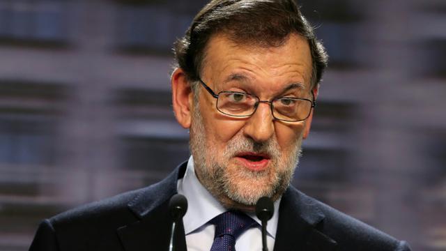Mariano Rajoy lors d'une conférence de presse le 21 décembre 2015 à Madrid [CESAR MANSO / AFP]