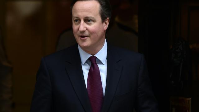 Le premier ministre David Cameron au 10 Downing Street après avoir annoncé  un vote au Parlement sur des frappes en Syrie, le 1er décembre 2015 à Londres [LEON NEAL / AFP]