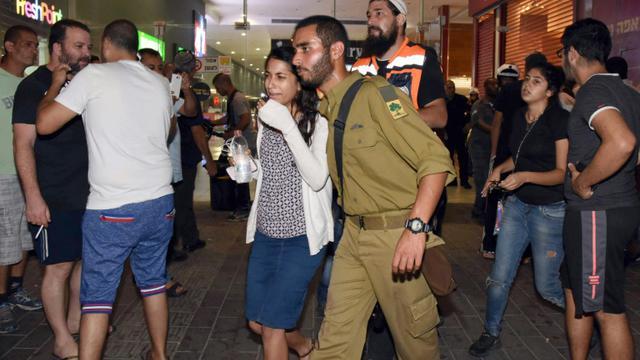 La gare routière de Beersheva le 18 octobre 2015 après une attaque mortelle [DUDU GRINSHPAN / AFP]