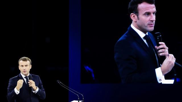 Le président Emmanuel Macron à Paris, le 12 novembre 2019 [ludovic MARIN / POOL/AFP/Archives]