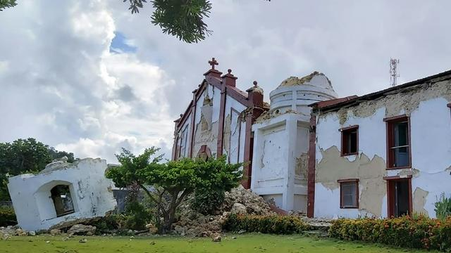 Photo obtenue auprès de Dominic De Sagon Asa montrant l'église de Santa Maria de Mayan, effondrée après des séismes qui ont frappé des îles du Nord des Philippines, le 27 juillet 2019 [Dominic DE SAGON ASA / Courtesy of Dominic DE SAGON ASA/AFP]